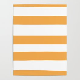 VA Bright Marigold - Spring Squash - Pure Joy - Just Ducky Hand Drawn Fat Horizontal Lines on White Poster