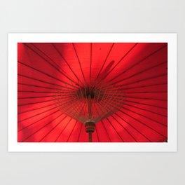 Red Parasol Art Print