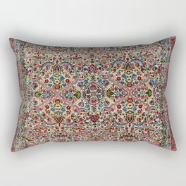 South Persia 19th Century Authentic Colorful Red Pink Blue Vintage Patterns Rectangular Pillow