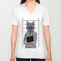 mr fox V-neck T-shirts featuring Mr fox.. by ZefxisJR281