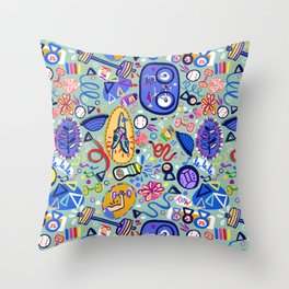 Exercise Fun! Throw Pillow
