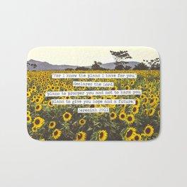 Jeremiah Sunflowers Bath Mat