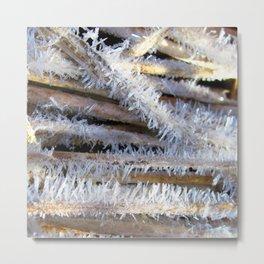Watercolor Ice 59, Prickly Ice Teeth Metal Print