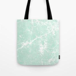 Modern vintage mint white elegant marble Tote Bag