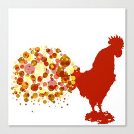 Chinese Lunar New Year Of The Rooster Zodiac Animal 2017 Canvas Print