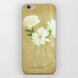 Burlap and Roses iPhone Skin
