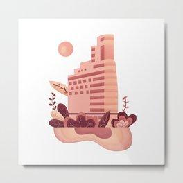 Edificio Natural Metal Print
