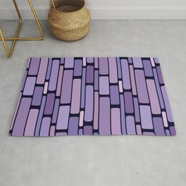 Retro Blocks Lavender Rug