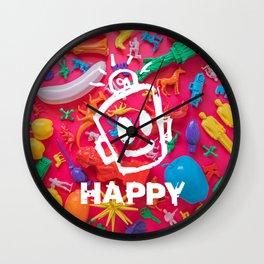 PRIDE (Plastic Menagerie Version) Wall Clock