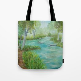 Little Manistee River MM120824a Tote Bag