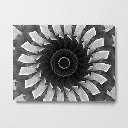 Gray Kaleidoscope Art 8 Metal Print