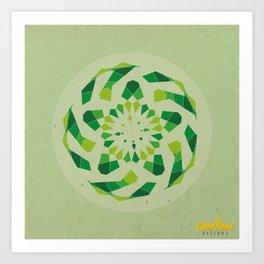 Mandala no.2 Green Art Print
