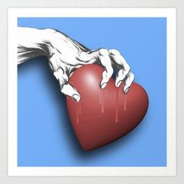 Heart Series Love Clawed Hearts Love Valentine Anniversary Birthday Romance Sexy Red Hearts Valentin Art Print