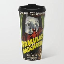 Dracula´s Daughter, vintage horror movie poster Travel Mug