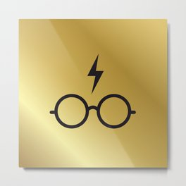 HARRY MINIMAL GOLD Metal Print