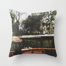 Tribal Villager's Stall Throw Pillow
