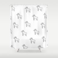 goat Shower Curtains featuring Goat by antheeuh