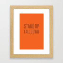 Motto - Week 2 Framed Art Print