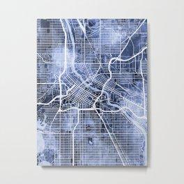 Minneapolis Minnesota City Map Metal Print