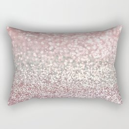 Girly Pink Snowfall Rectangular Pillow