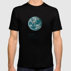 Earth Black LARGE Mens Fitted Tee