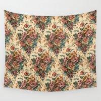 antique Wall Tapestries featuring ANTIQUE BOUQUET by Addington Blythe/Legion XXI