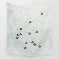 aquarius Wall Tapestries featuring Aquarius by Leah Flores