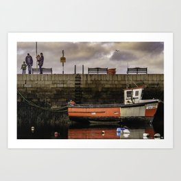 Bullock Harbour,  Dublin Art Print
