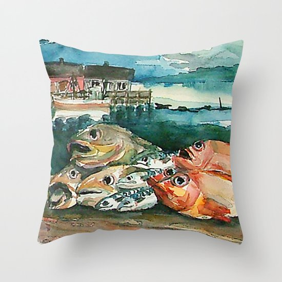 Memories frome the coast of Norway Throw Pillow