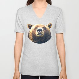 Bear portrait Unisex V-Neck