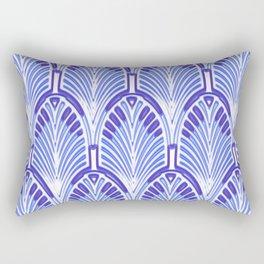 Nouveau,art deco, blue,white,vintage,pattern,elegant,chic,modern, trendy Rectangular Pillow