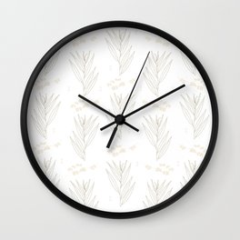 White Willow Wall Clock