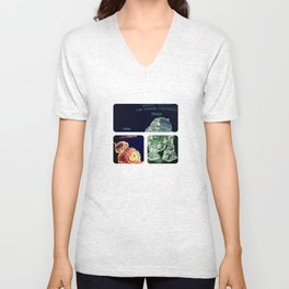 R2D2 AND BB8 FORCE COLORS Unisex V-Neck