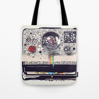 camera Tote Bags featuring COLOR BLINDNESS by Huebucket