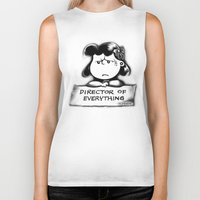 psych Biker Tanks featuring Director and psych redirector of everything. Ms. Lucy by Kristy Patterson Design