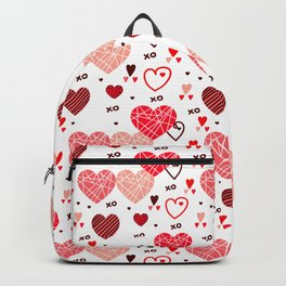 Valentines hears and love symbols pattern Backpack