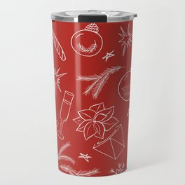 Holiday pattern Travel Mug