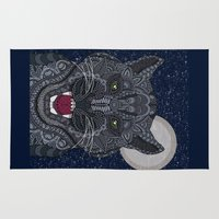 panther Area & Throw Rugs featuring Black Panther by ArtLovePassion