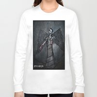 the wire Long Sleeve T-shirts featuring Barbed Wire by Dandy Jon