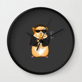 Hamster Terminator - by Rui Guerreiro Wall Clock