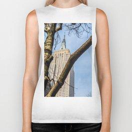 Tree Of Empire State Building Biker Tank