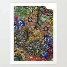 Psychedelic Botanical 4 Art Print