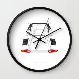 Countach in White Wall Clock