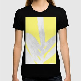 Green Fern on Lemon Yellow Inverted T-shirt