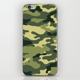 Green camouflage iPhone Skin