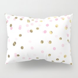 Pink and Gold Confetti Pillow Sham