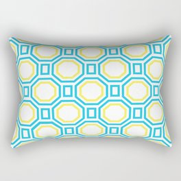 Blue Harmony in Symmetry Rectangular Pillow