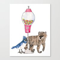 regular show Canvas Prints featuring Regular Show by Hard Lily