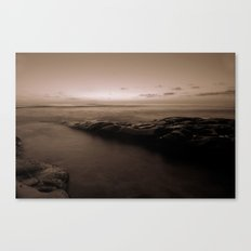 Pacific Sunset in B&W Canvas Print