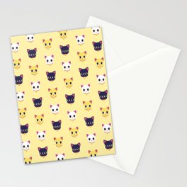 Maneki neko pattern Stationery Cards